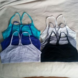 6 Fruit of the Loom Racerback Sport Bras Large